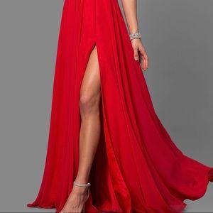 Faviana Dresses - Red Fabiana 7747 Dress